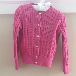  Ralph Lauren Bright Pink Cardigan Sweater 3T